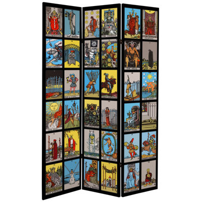 Oriental Furniture 6' Rider-Waite Tarot Room Divider