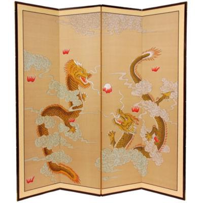 Oriental Furniture 6' Dragons Room Divider
