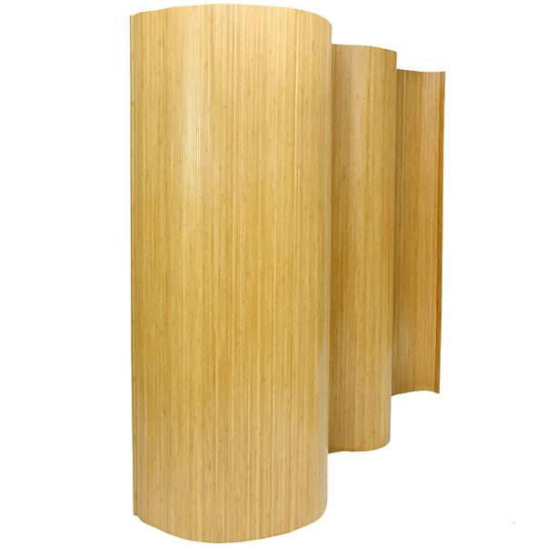 Oriental Furniture 6' Bamboo Wave Room Divider