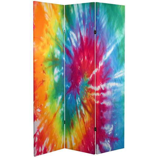 Oriental Furniture 6' Tie Dye Room Divider