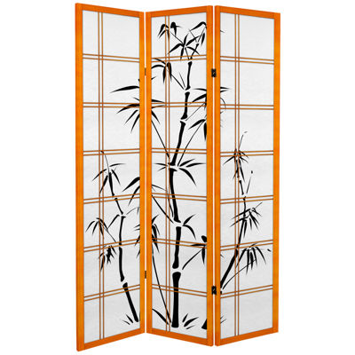 Oriental Furniture 6' Bamboo Tree 3 Panel Room Divider