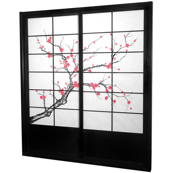 Oriental Furniture 7' Cherry Blossom Room Divider