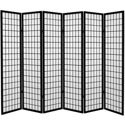 Oriental Furniture 6' Window Pane 6 Panel Room Divider
