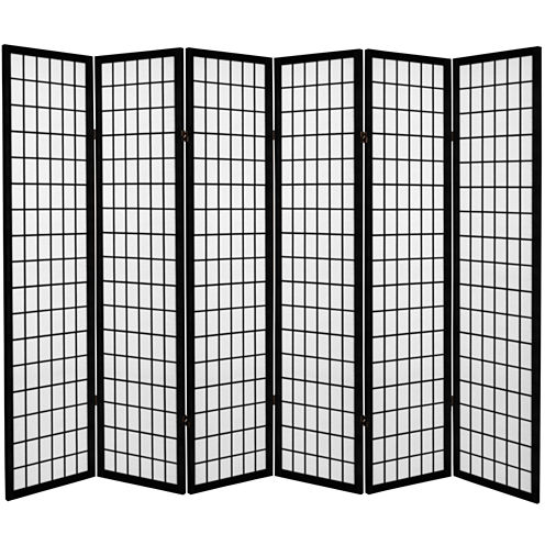 Oriental Furniture 6' Window Pane 6 Panel Room Divider