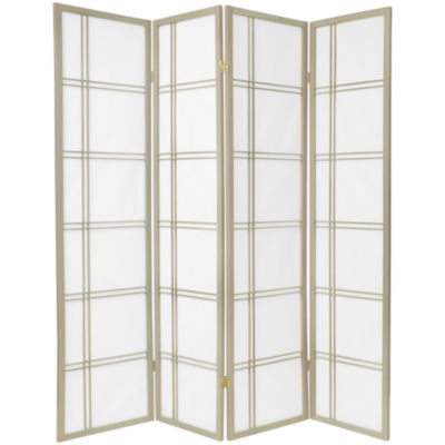Oriental Furniture 6' Double Cross Shoji Special Edition 4 Panel Room Divider