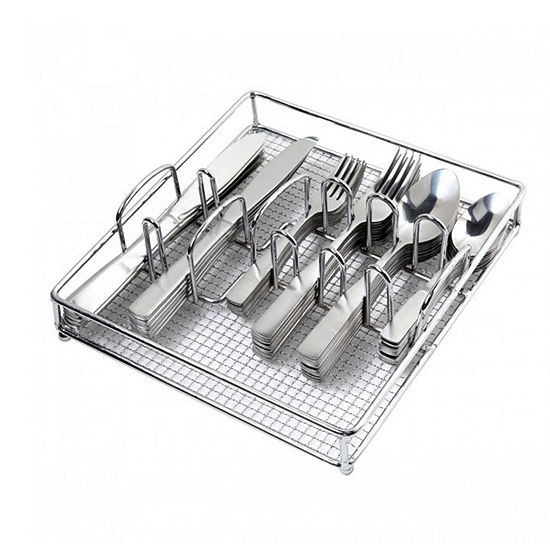 Gibson Home Abbeville 61-pc. Flatware Set with Wire Caddy