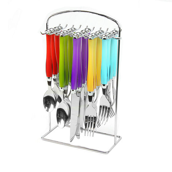 Santoro 20-pc. Stainless Steel Flatware Set with Hanging Rack