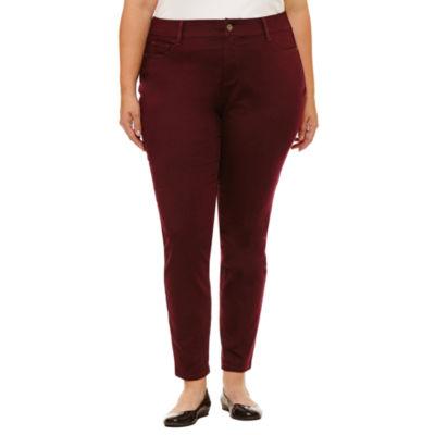 "St. John's Bay Skinny Jeans- Plus (30"")"