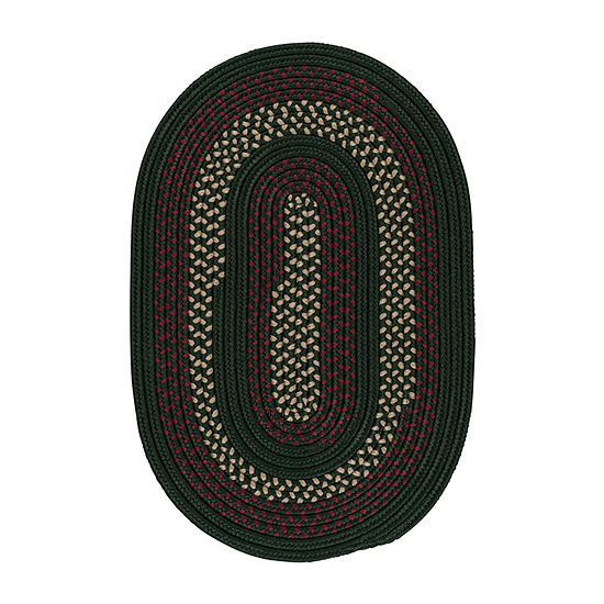 Colonial Mills Township Braided Oval Reversible Indoor/Outdoor Rugs