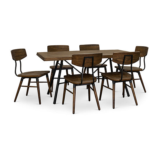 Flat Iron 7 Piece Dining Set