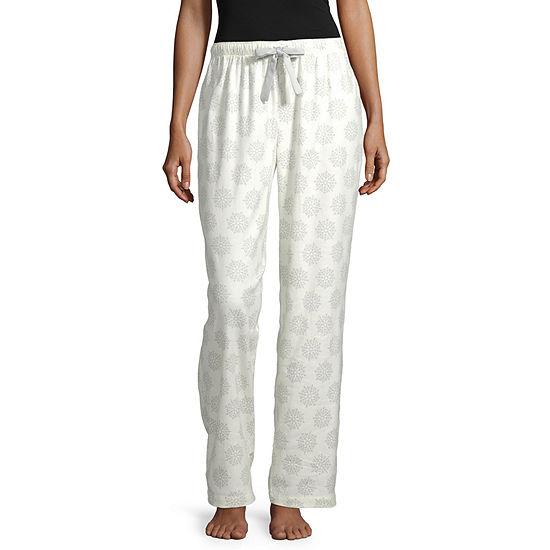Sleep Chic Womens Mix and Match Flannel Pajama Pants - Petite