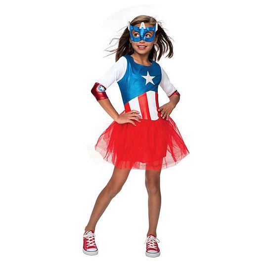 Marvel Avengers American Dream Metallic Dress Toddler Costume (3t-4t) Girls Costume