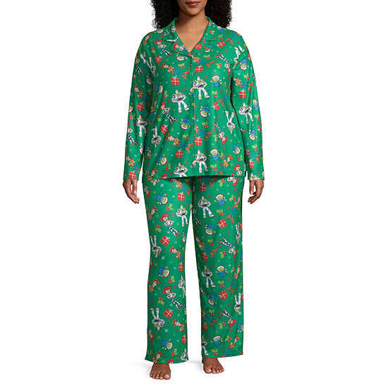 Disney Toy Story Family Women's Plus Coat Front Pajama Set