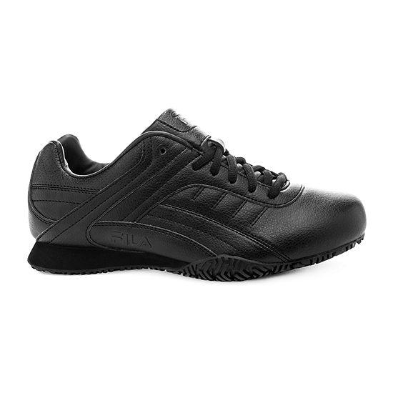Fila Memory Elleray Slip-Resistant Work Womens Sneakers Wide Width