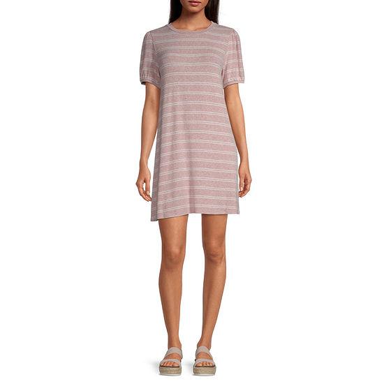 Arizona Short Sleeve T-Shirt Dress - Juniors