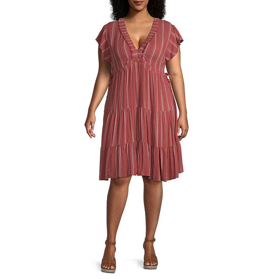 a.n.a-Plus Women Short Sleeve Sundress