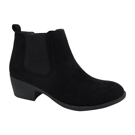 Pop Womens Emmy Block Heel Booties, 11 Medium, Black
