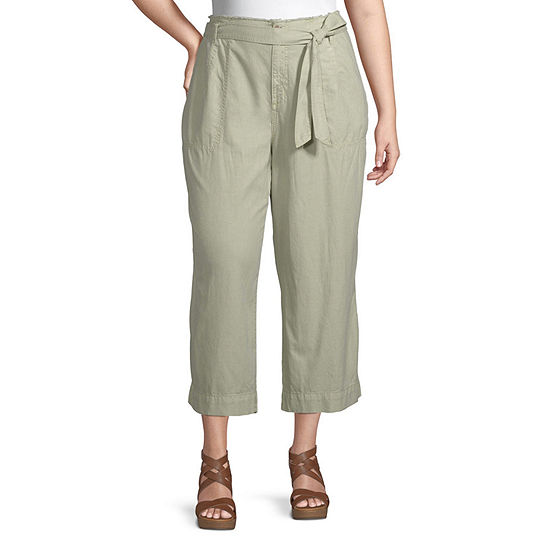 a.n.a-Plus Womens High Rise Cropped Pants