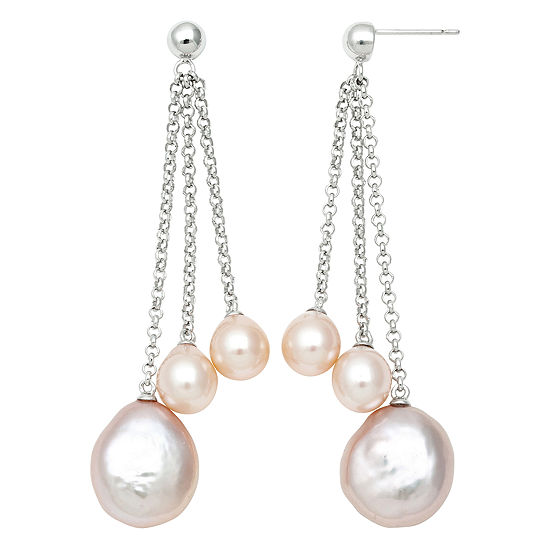 Cultured Freshwater Pearl Drop Earrings