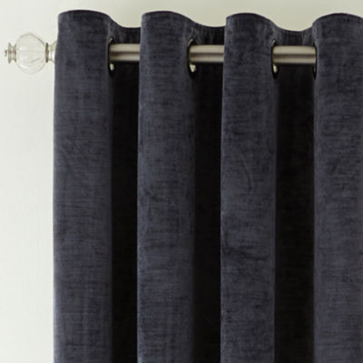 Royal Velvet® Augusta Velvet Rod-Pocket Curtain Panel