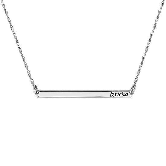 df88145754e4e Personalized Sterling Silver Name Bar Necklace