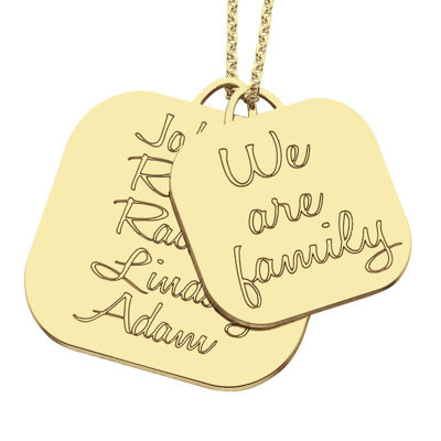 "Personalized ""We Are Family"" Pendant Necklace"