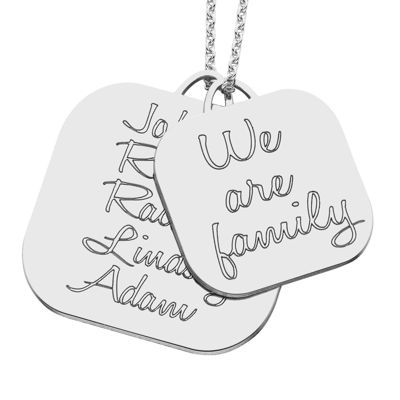 Personalized Sterling Silver Family Name Pendant Necklace