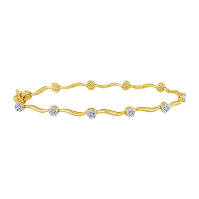 diamond blossom 1/4 CT. T.W. Diamond Cluster Bracelet