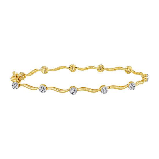 Diamond Blossom 1 4 Ct Tw Diamond Cluster Bracelet