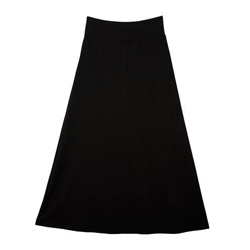 by&by Girl Black Maxi Skirt - Girls 7-16