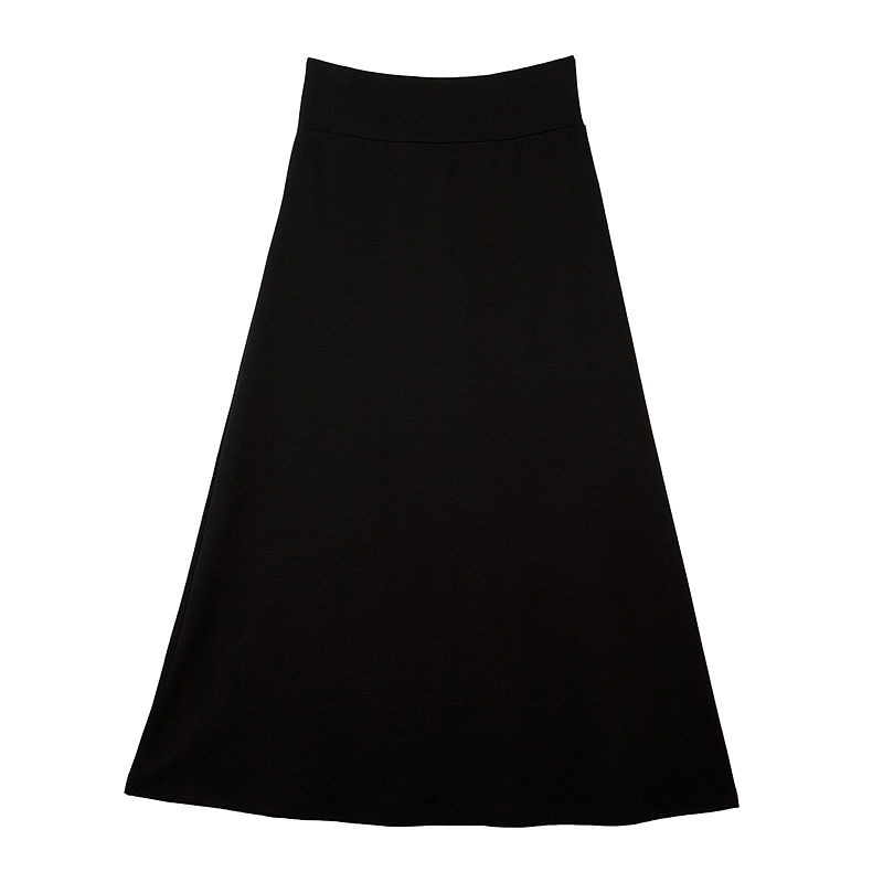 by & by Girl Black Maxi Skirt - Girls 7-16 plus size,  plus size fashion plus size appare