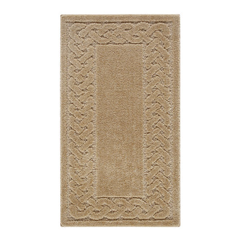 Lattice Border Washable Rectangular Rug