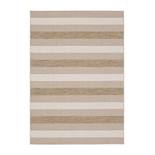 Striped Indoor/Outdoor Rectangular Rug