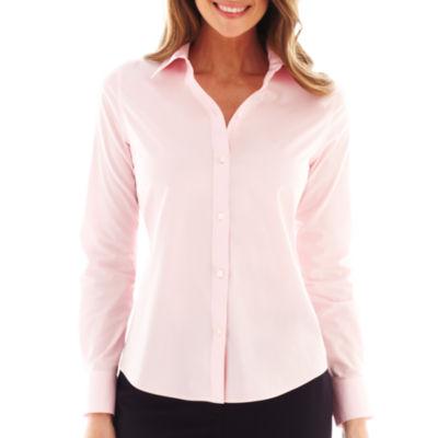 Liz Claiborne® Long-Sleeve Wrinkle-Free Shirt