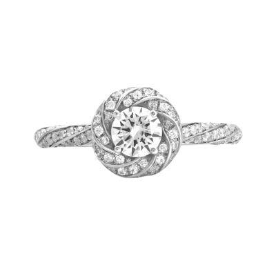 Opulent Diamond 7/8 CT. T.W. Certified Diamond 14K White Gold Twist Ring