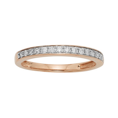 1/4 CT. T.W. Certified Diamond Single-Row Rose Gold Wedding Band