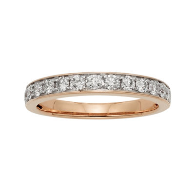 1/2 CT. T.W. Certified Diamond Single-Row Rose Gold Wedding Band