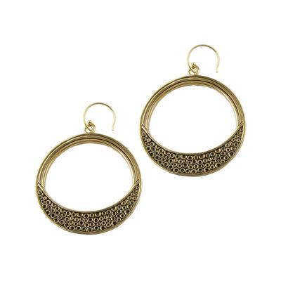 Art Smith by BARSE Textured Bronze Hoop Earrings