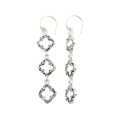 Art Smith by BARSE Textured Clover Linear Earrings