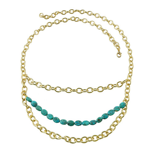 Art Smith by BARSE Genuine Turquoise Layered Chain Necklace