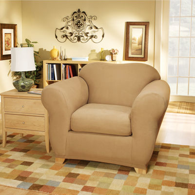 SURE FIT® Stretch Faux-Suede 2-pc. Chair Slipcover