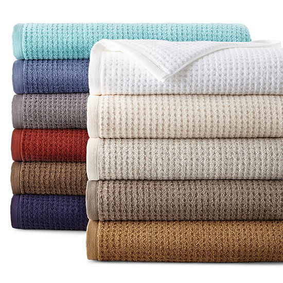 JCPenney Home™ Quick-Dri™ Solid Bath Towels-JCPenney