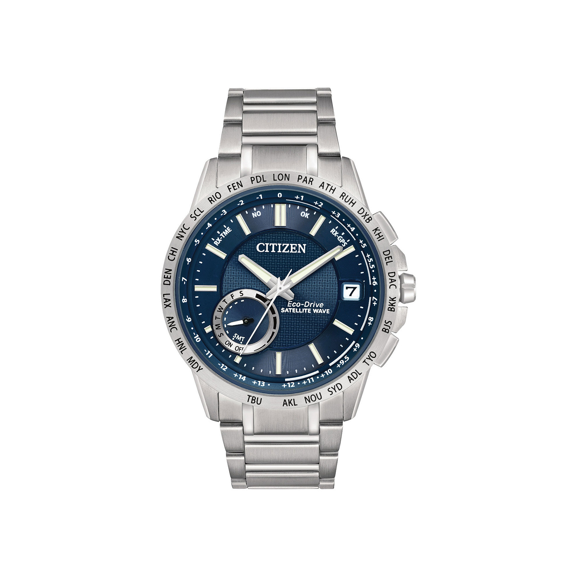 Citizen Eco-Drive Satellite Wave-World Time GPS Mens Watch CC3000-89L