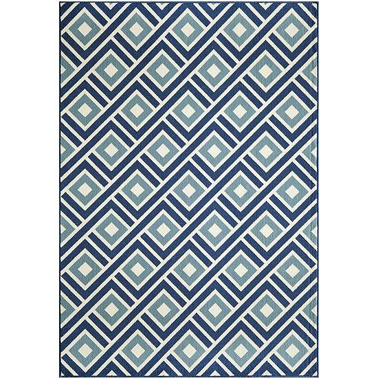 Momeni® Baja Diamond Indoor/Outdoor Rectangular Rug