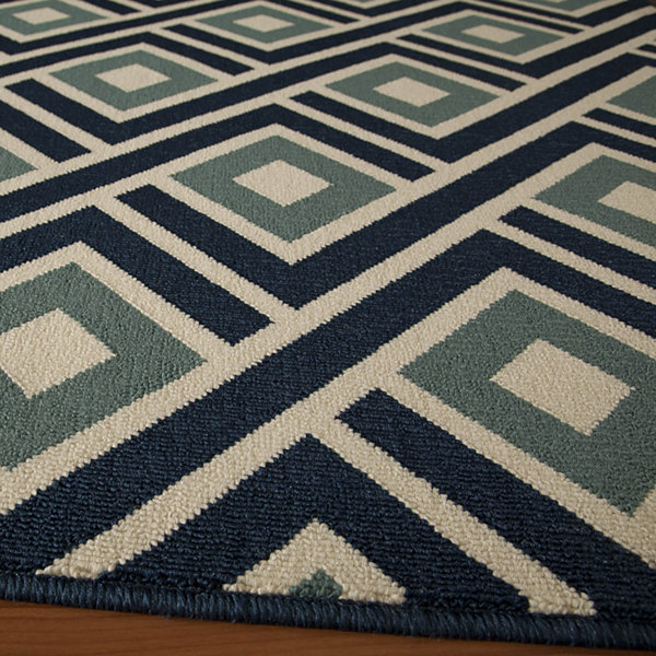 Momeni® Baja Diamond Indoor/Outdoor Rectangular Rug
