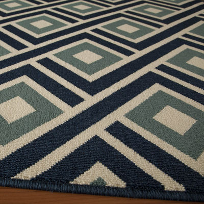 Momeni® Baja Diamond Indoor/Outdoor Runner Rug