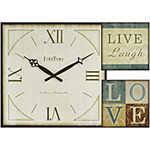 FirsTime® Love Gallery 3-pc. Wall Clock and Plaques Set