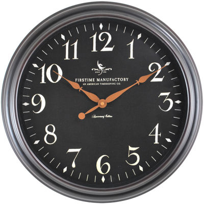 FirsTime® Belmont Classic Black Wall Clock