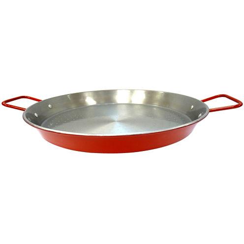 IMUSA Global Kitchen GKM-61022 15-Inch Non-CoatedPaella Pan Natural Finish