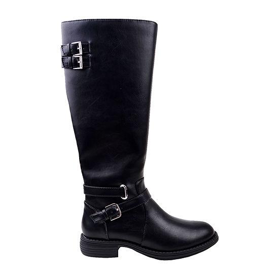 New York Transit Womens Helena Flat Heel Riding Boots